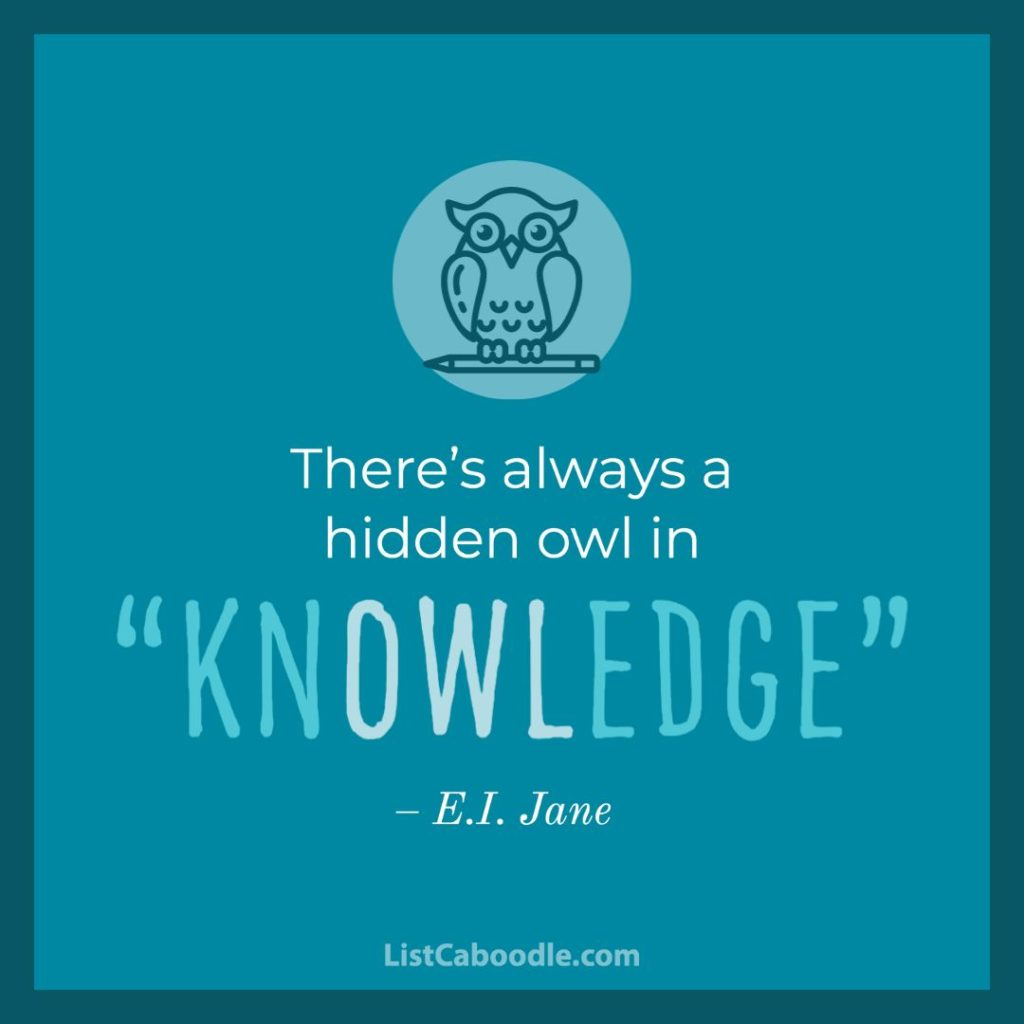 Owl Quote About Knowledge